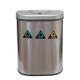Oval Plus 70 Litre (23 Litre + 24 Litre + 23 Litre) Recycling Series. 3 Compartments Stainless Steel Autobin.